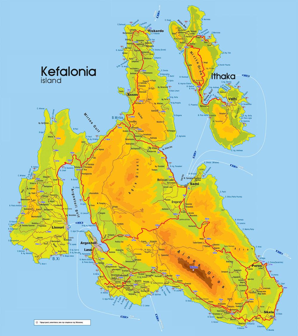 mapa grcke kefalonija Kefalonija apartmani 2018,Letovanje Kefalonija 2018,Letovanje 2018  mapa grcke kefalonija