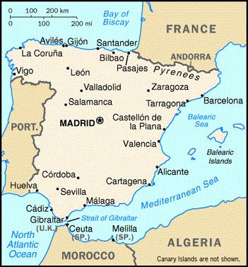 spanija mapa Letovanje SPANIJA 2018,Leto SPANIJA 2018,Leto u Spaniji 2018,Leto  spanija mapa